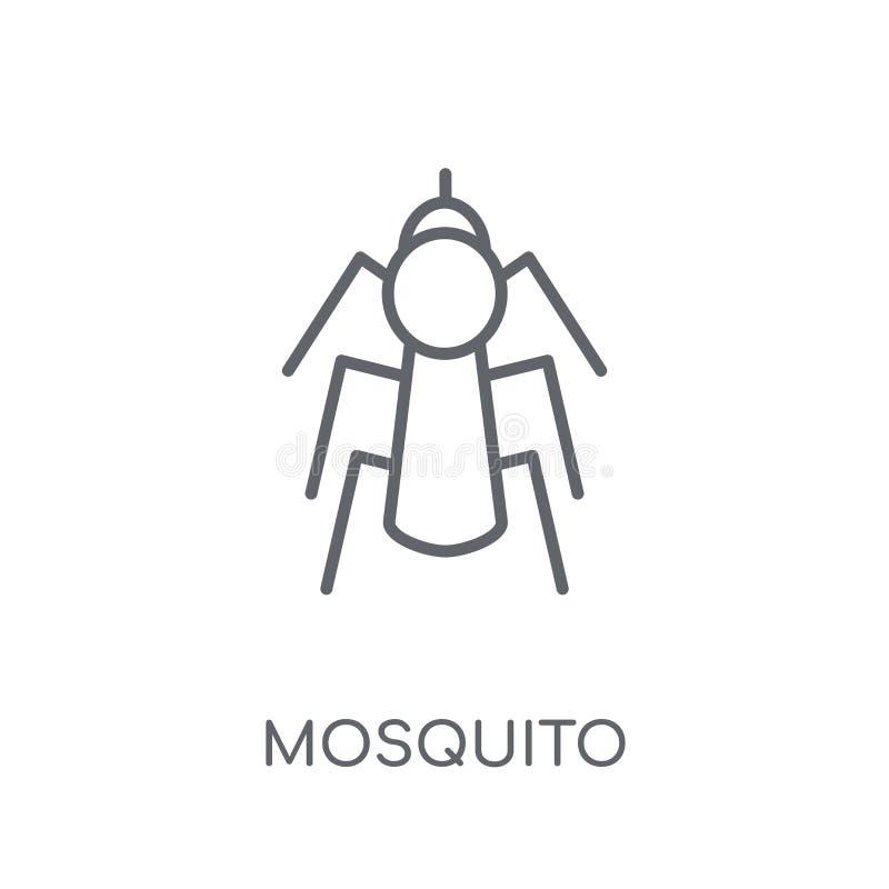 Icône linéaire de moustique Concept moderne de logo de moustique d'ensemble sur le wh illustration de vecteur