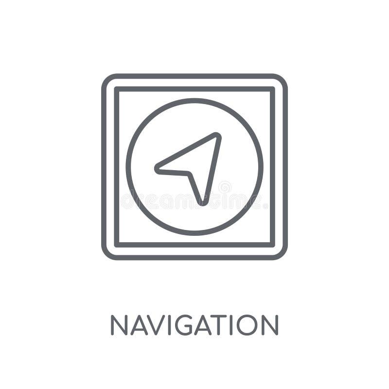 Icône linéaire de navigation Concept moderne o de logo de navigation d'ensemble illustration stock