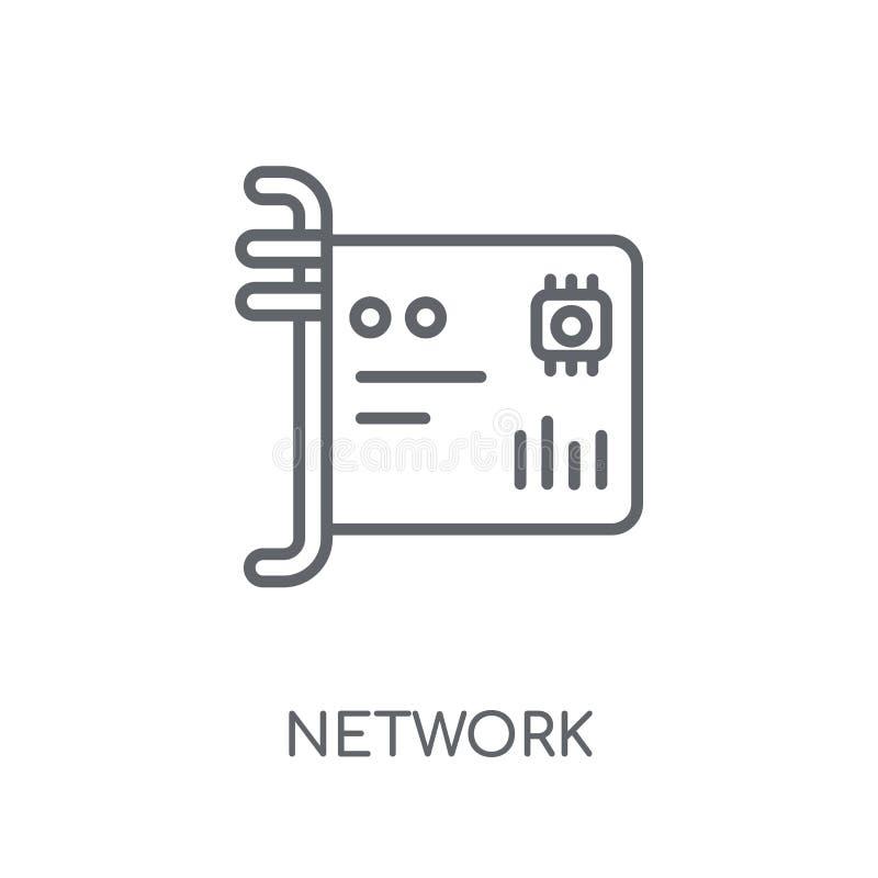 Icône linéaire de network interface card Réseau moderne d'ensemble inter illustration de vecteur