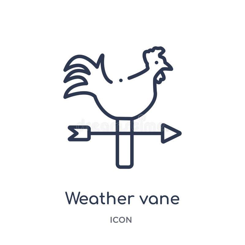 Icône linéaire de palette de temps de la collection agricole et de jardinage d'agriculture d'ensemble Ligne mince vecteur de pale illustration stock