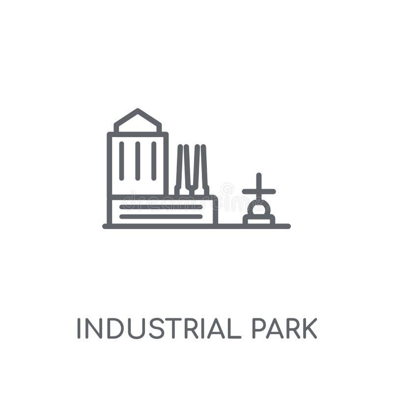 Icône linéaire de parc industriel Logo moderne de parc industriel d'ensemble illustration stock