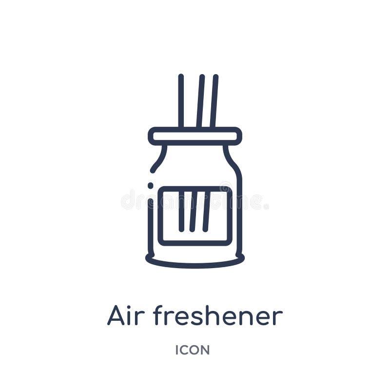 Icône linéaire de parfum d'ambiance de la collection de nettoyage d'ensemble Ligne mince vecteur de parfum d'ambiance d'isolement illustration de vecteur
