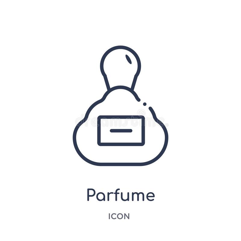 Icône linéaire de parfume de collection d'ensemble de mode Ligne mince icône de parfume d'isolement sur le fond blanc parfume à l illustration de vecteur