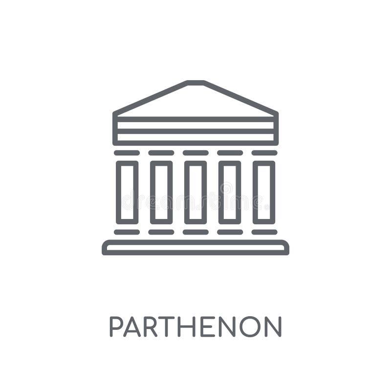 Icône linéaire de parthenon Concept moderne de logo de parthenon d'ensemble dessus illustration libre de droits
