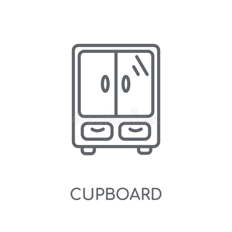 Icône linéaire de placard Concept moderne de logo de placard d'ensemble sur le wh illustration stock