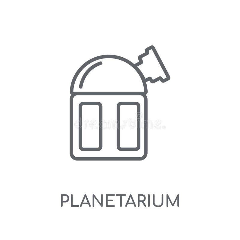 Icône linéaire de planétarium Concept moderne de logo de planétarium d'ensemble illustration de vecteur
