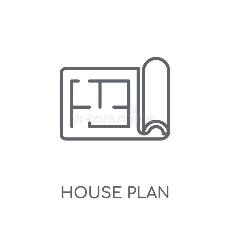 Icône linéaire de plan de Chambre Concept moderne o de logo de plan de Chambre d'ensemble illustration de vecteur
