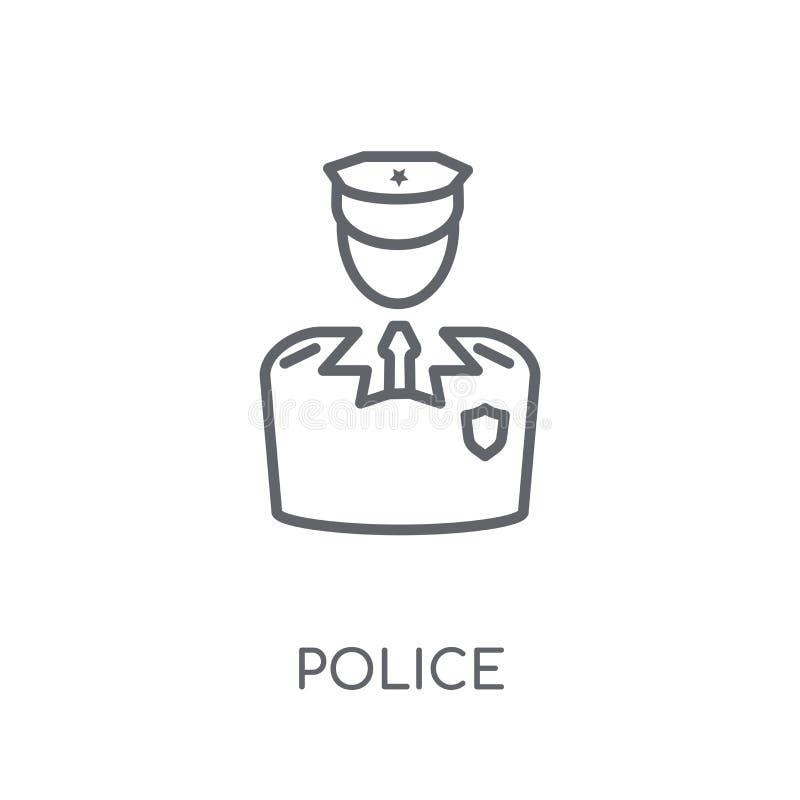 Icône linéaire de police Concept moderne de logo de police d'ensemble sur le blanc illustration de vecteur
