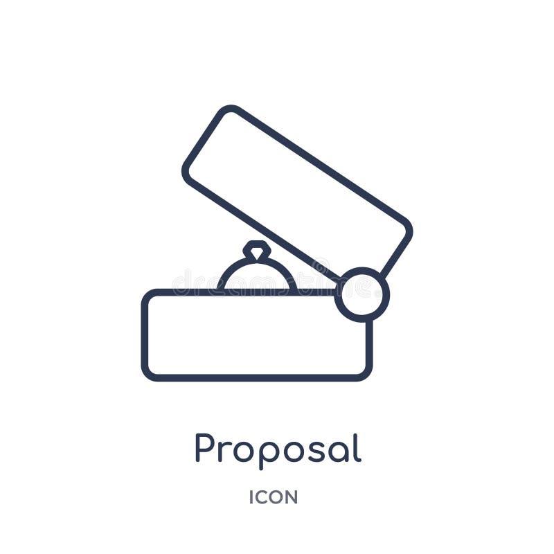 Icône linéaire de proposition de collection d'ensemble de fête d'anniversaire Ligne mince vecteur de proposition d'isolement sur  illustration libre de droits