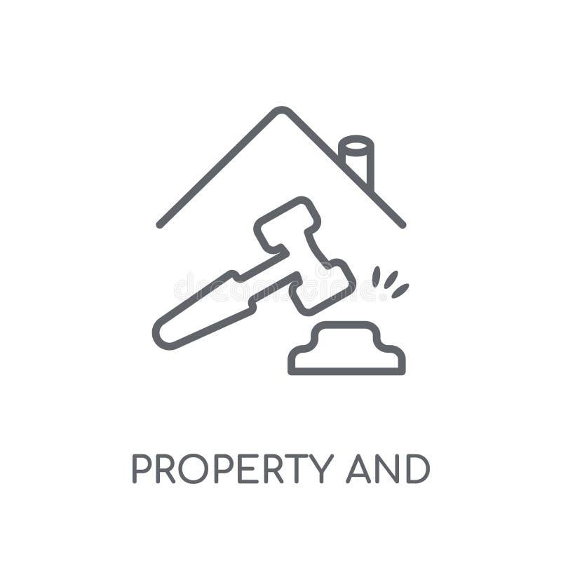 icône linéaire de propriété et de finances Propriété d'ensemble et fi modernes illustration de vecteur
