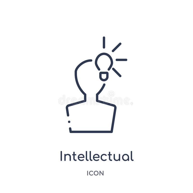 Icône linéaire de propriété intellectuelle de collection d'ensemble de loi et de justice Ligne mince icône de propriété intellect illustration de vecteur