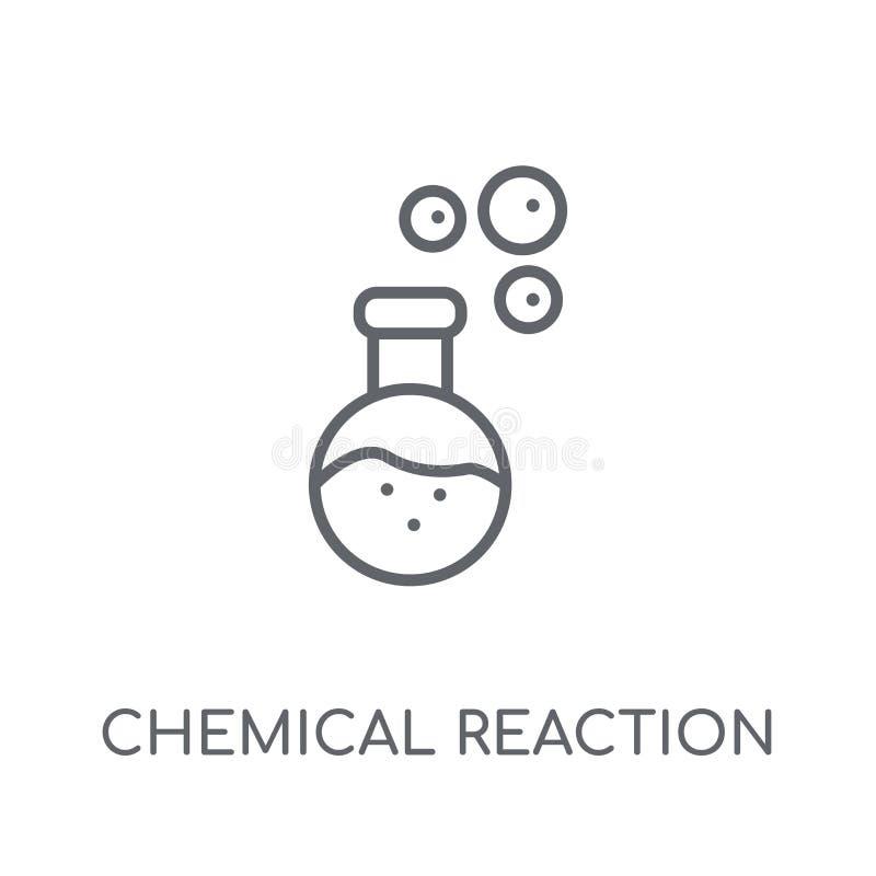 Icône linéaire de réaction chimique Réaction chimique moderne d'ensemble illustration de vecteur