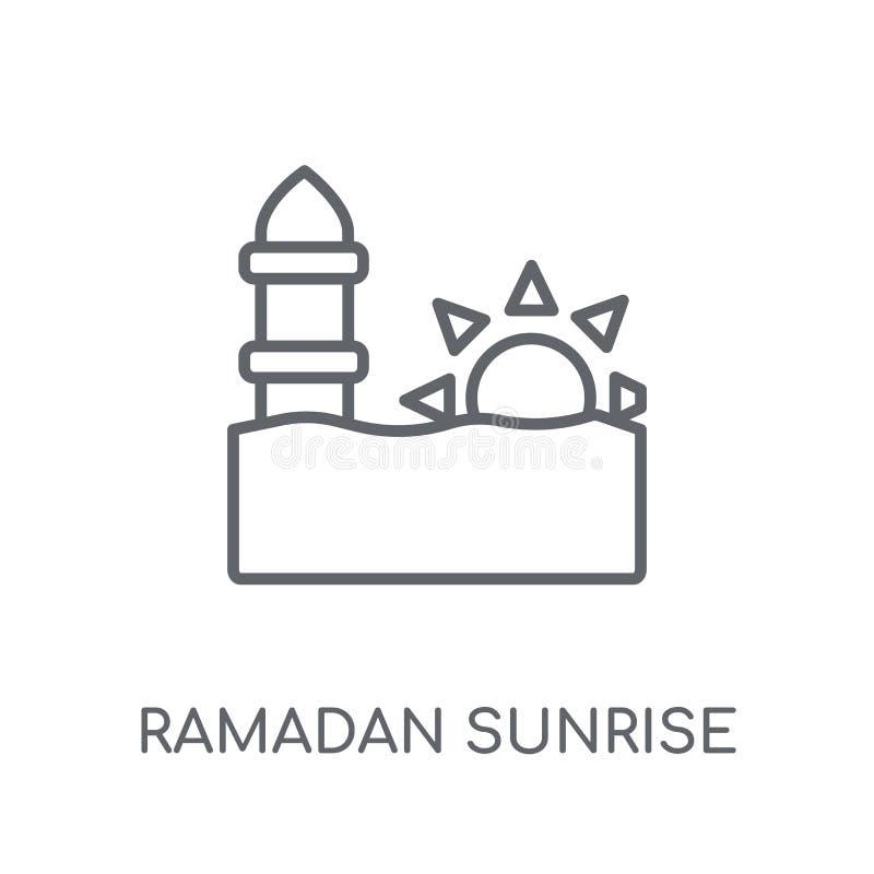 Icône linéaire de Ramadan Sunrise Logo moderne de Ramadan Sunrise d'ensemble illustration stock