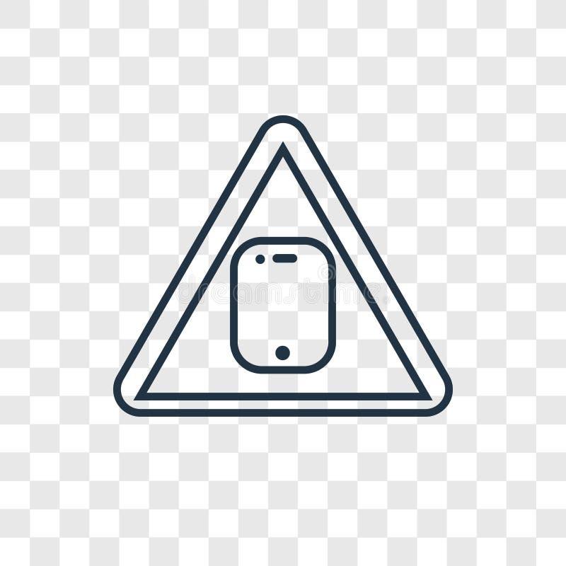 Icône linéaire de rebut toxique de vecteur de concept d'isolement sur b transparent illustration de vecteur