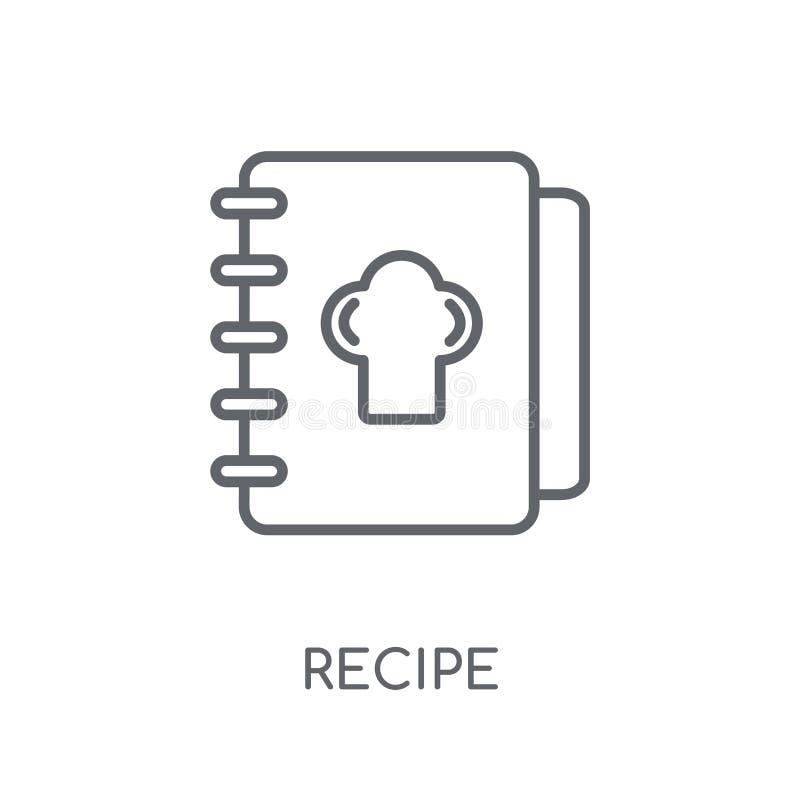 Icône linéaire de recette Concept moderne de logo de recette d'ensemble sur le blanc illustration libre de droits
