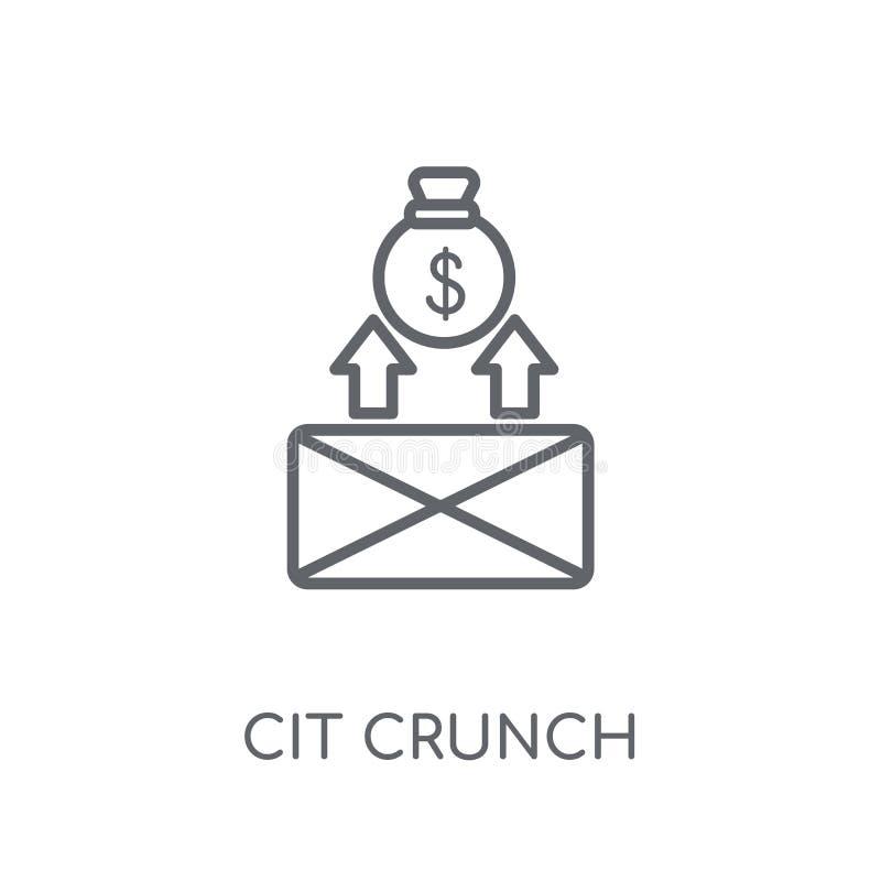 Icône linéaire de resserrement du crédit Escroquerie moderne de logo de resserrement du crédit d'ensemble illustration de vecteur