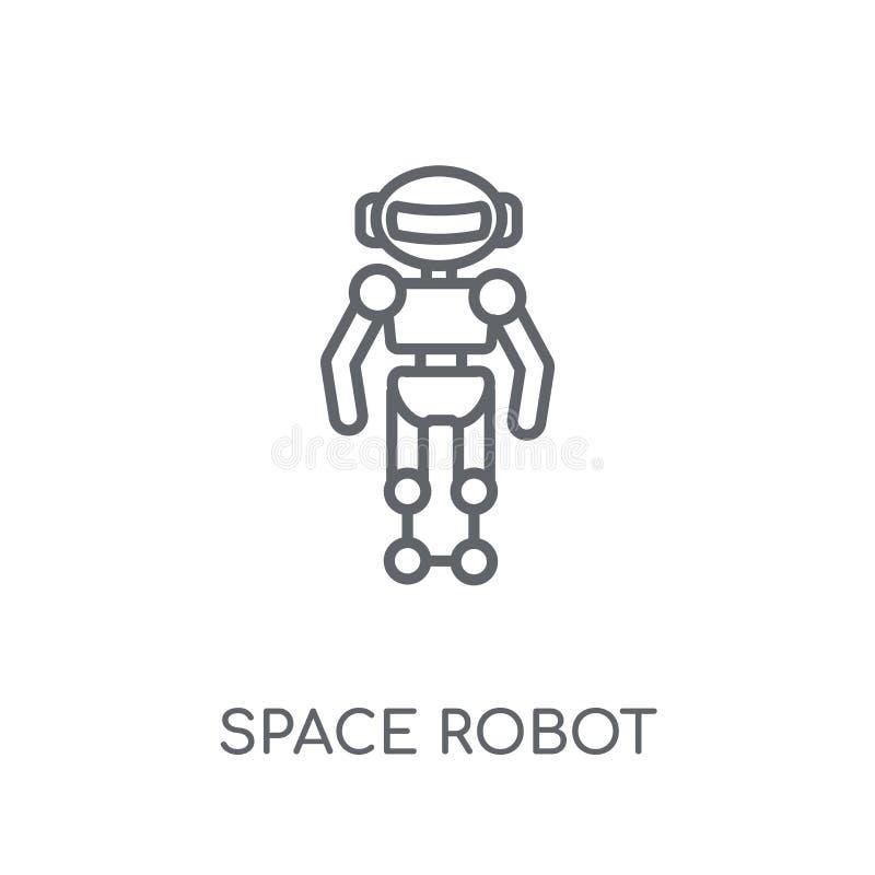Icône linéaire de robot d'espace Concept moderne de logo de robot d'espace d'ensemble illustration de vecteur