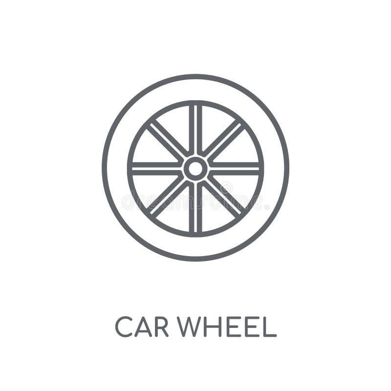 icône linéaire de roue de voiture Concept moderne de logo de roue de voiture d'ensemble dessus illustration libre de droits
