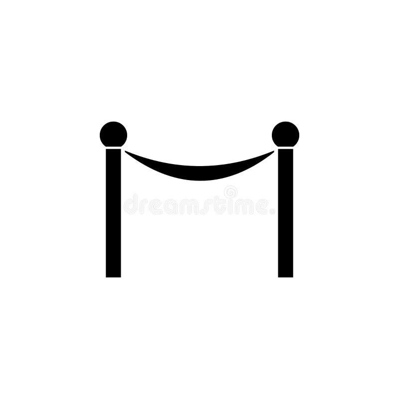 Icône linéaire de ruban d'ouverture officielle Illustration au trait mince Tapis rouge Symbole de découpe Dessin d'isolement par  illustration de vecteur