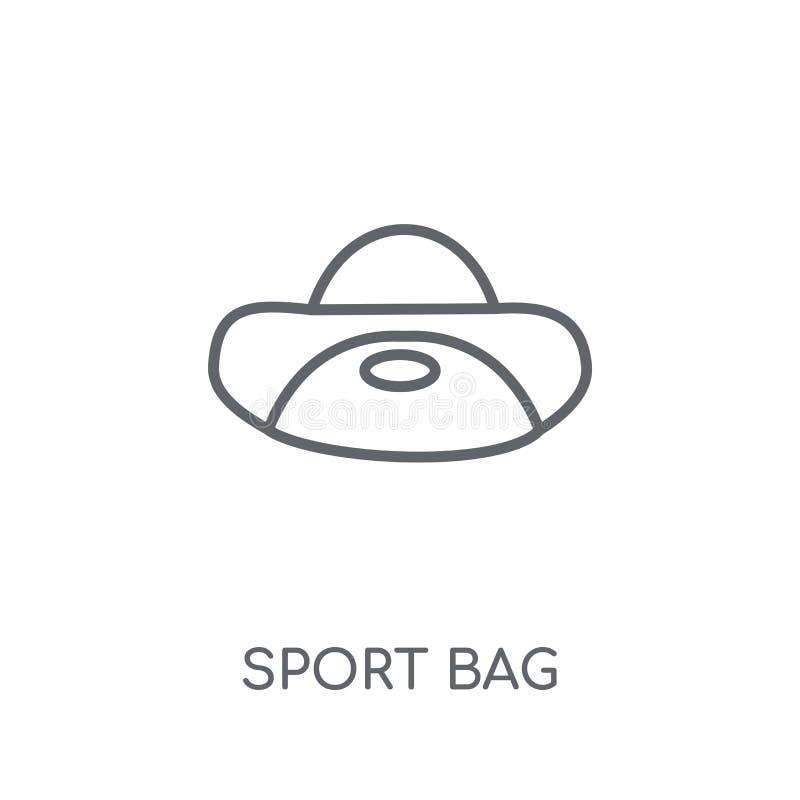 Icône linéaire de sac de sport Concept moderne de logo de sac de sport d'ensemble dessus illustration libre de droits