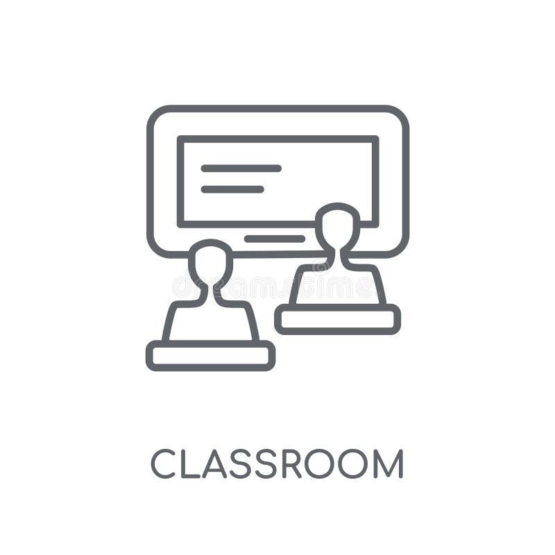 Icône linéaire de salle de classe Concept moderne de logo de salle de classe d'ensemble dessus illustration de vecteur