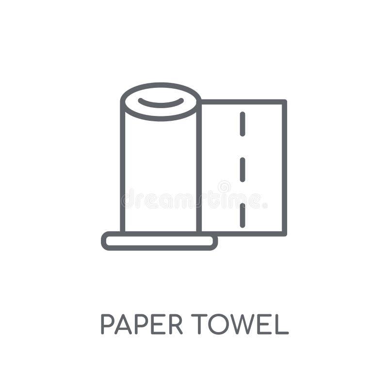 icône linéaire de serviette de papier Concept moderne de logo de serviette de note de synthèse illustration libre de droits