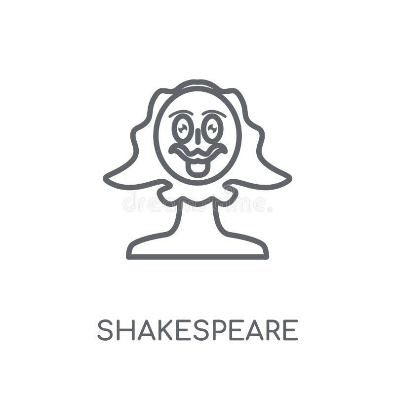 Icône linéaire de Shakespeare Concept moderne de logo de Shakespeare d'ensemble illustration stock