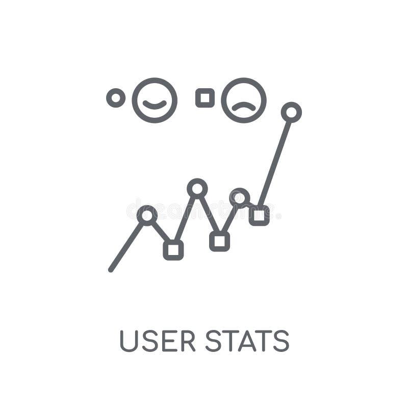 Icône linéaire de stat d'utilisateur Concept moderne o de logo de stat d'utilisateur d'ensemble illustration de vecteur