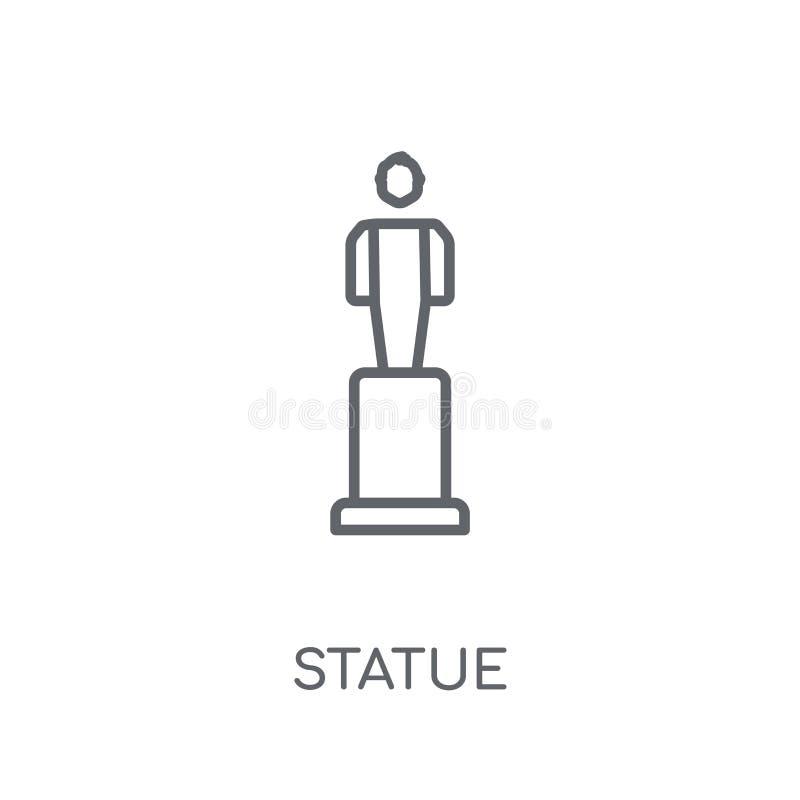 Icône linéaire de statue Concept moderne de logo de statue d'ensemble sur le blanc illustration stock