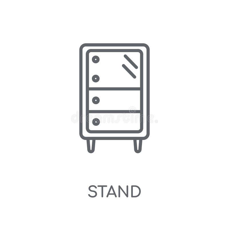Icône linéaire de support Concept moderne de logo de support d'ensemble sur le Ba blanc illustration libre de droits