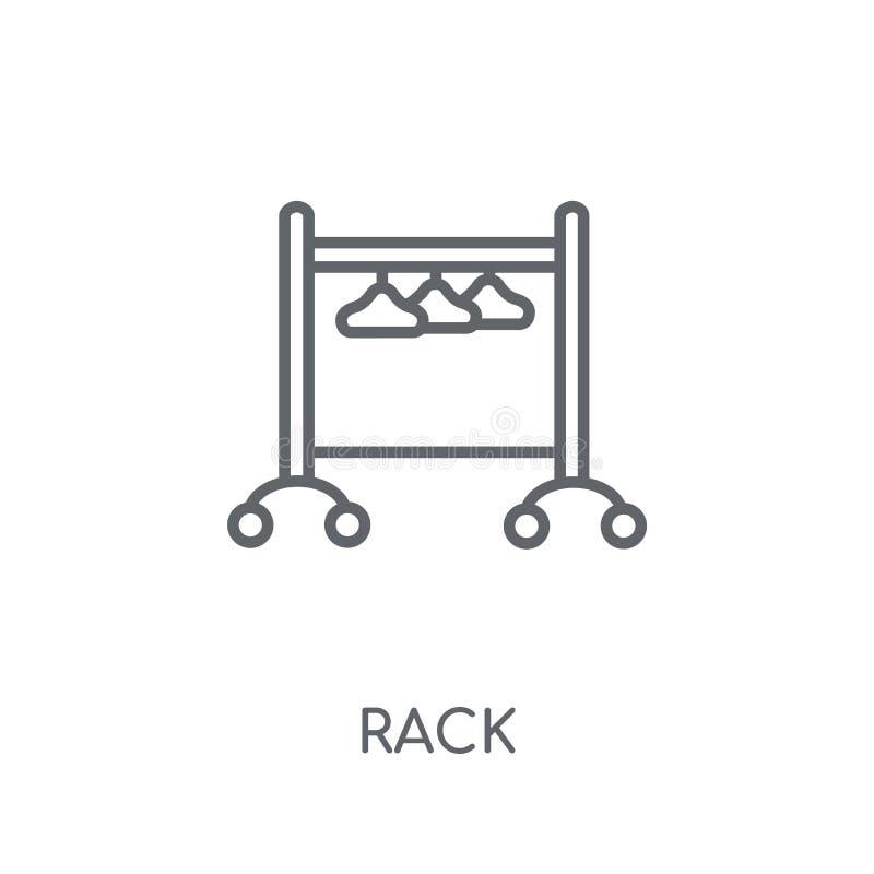Icône linéaire de support Concept moderne de logo de support d'ensemble sur le dos blanc illustration libre de droits