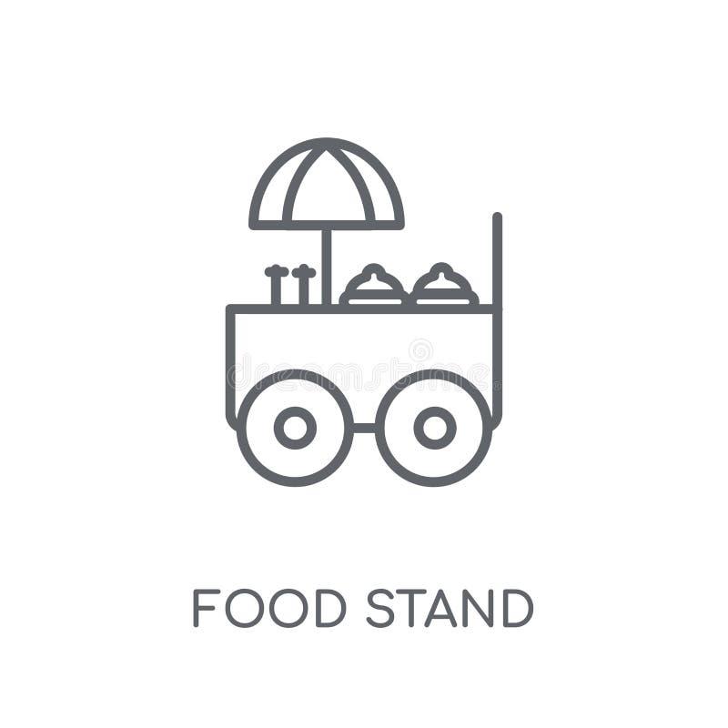 Icône linéaire de support de nourriture Concept moderne o de logo de support de nourriture d'ensemble illustration de vecteur