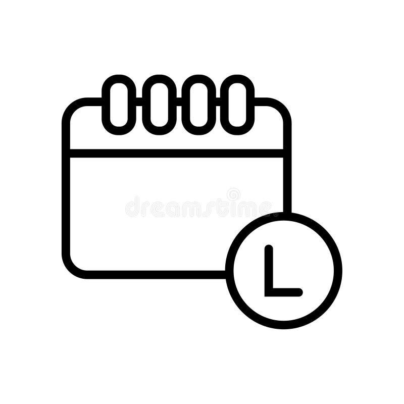 Icône linéaire de symbole d'illustration de vecteur de vente de noir de vente illustration libre de droits