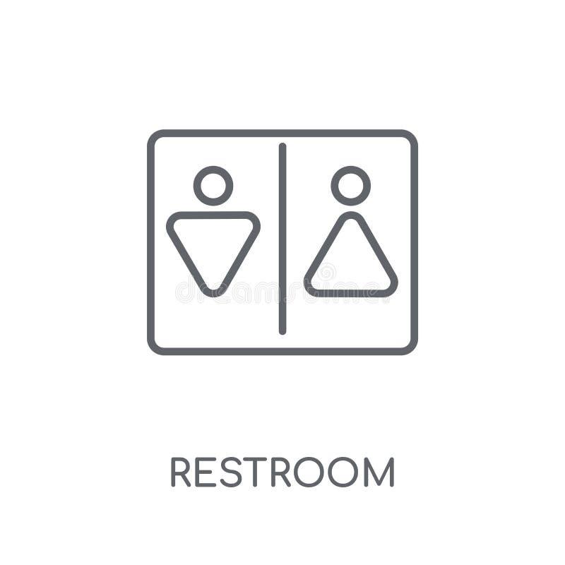 Icône linéaire de toilettes Concept moderne de logo de toilettes d'ensemble sur le wh illustration de vecteur
