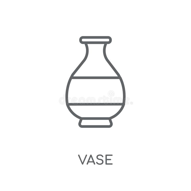 Icône linéaire de vase Concept moderne de logo de vase à ensemble sur le dos blanc illustration stock