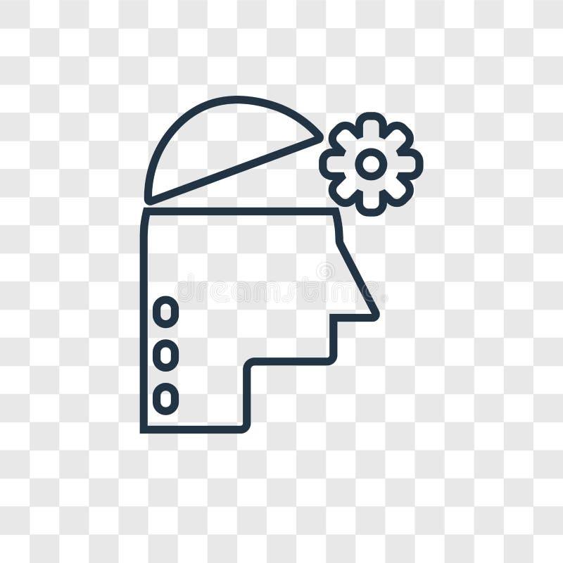 Icône linéaire de vecteur de concept d'empathie d'isolement sur le backg transparent illustration libre de droits