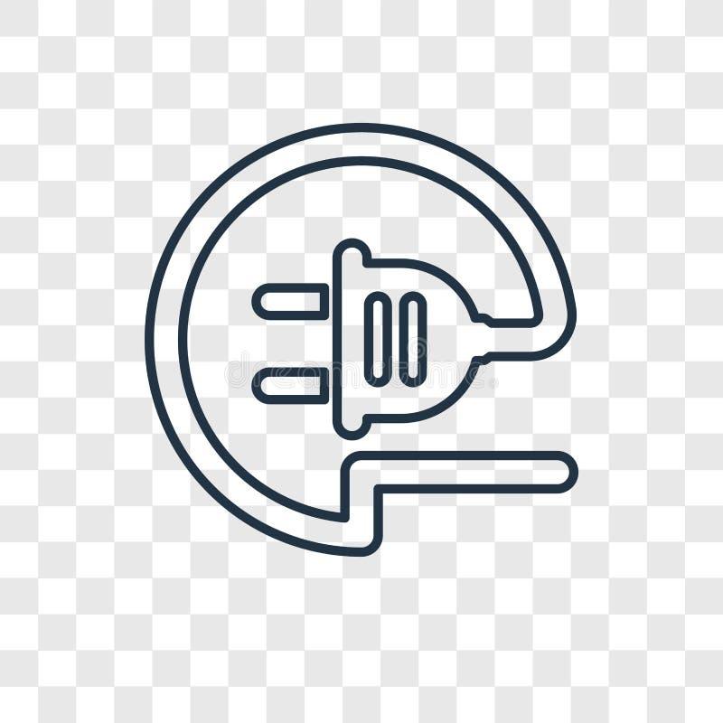 Icône linéaire de vecteur de concept de fil sur le backgrou transparent illustration stock