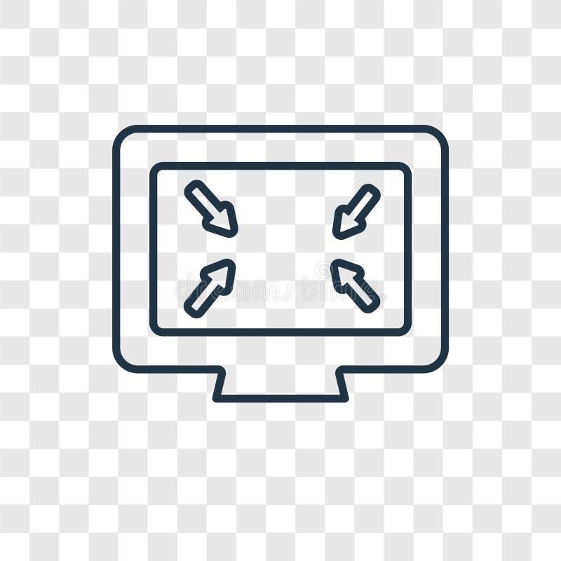 Icône linéaire de vecteur de concept de grille d'écran sur b transparent illustration stock