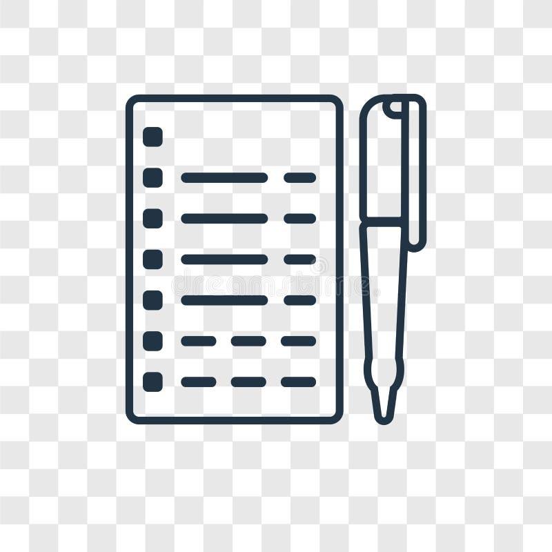 Icône linéaire de vecteur de concept de journaliste d'isolement sur le Ba transparent illustration stock