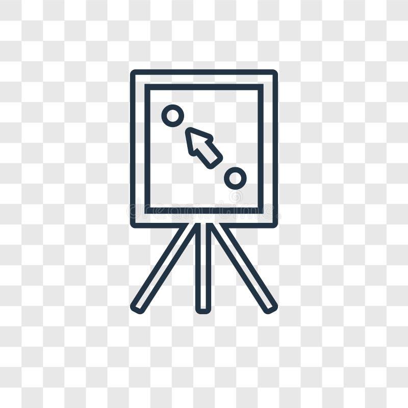 Icône linéaire de vecteur de concept de plan d'isolement sur le backgrou transparent illustration stock