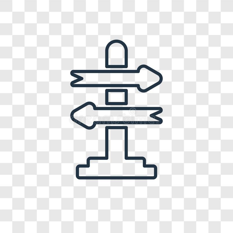 Icône linéaire de vecteur de concept de prise de décision d'isolement sur le transpare illustration libre de droits