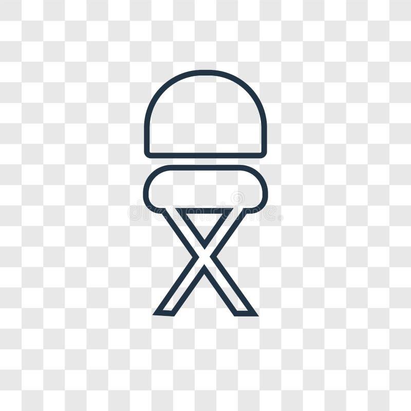 Icône linéaire de vecteur de concept de selles d'isolement sur le backgro transparent illustration stock