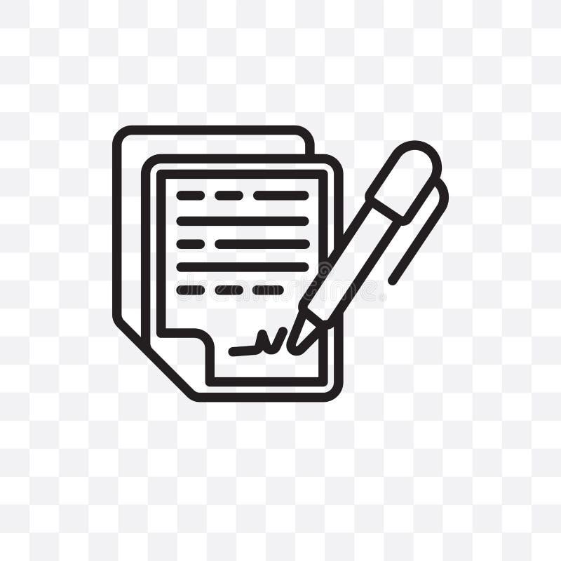 Icône linéaire de vecteur de convention de confidentialité d'isolement sur le fond transparent, concept Ca de transparent de conv illustration de vecteur