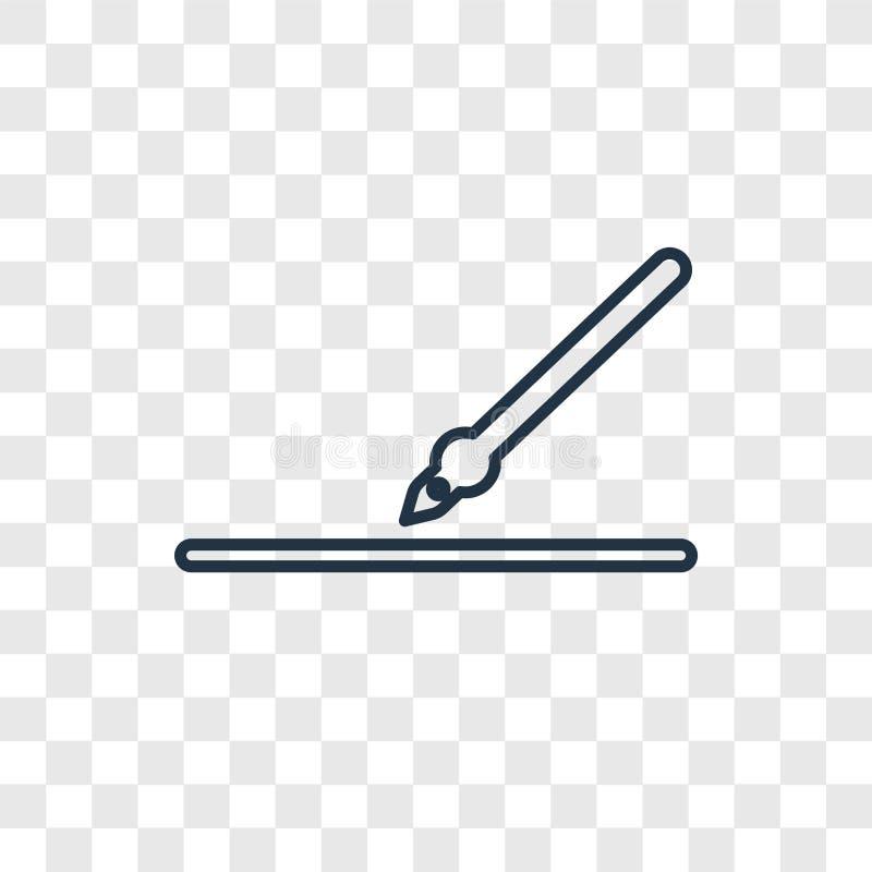 icône linéaire de vecteur d'isolement sur le fond transparent, transpa illustration de vecteur