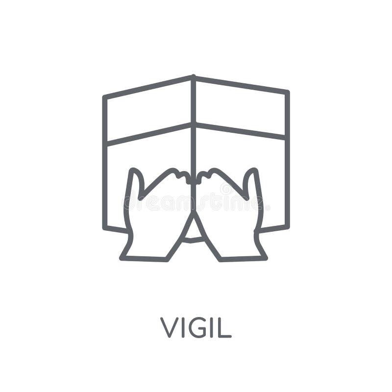 Icône linéaire de vigile Concept moderne de logo de vigile d'ensemble sur le Ba blanc illustration stock