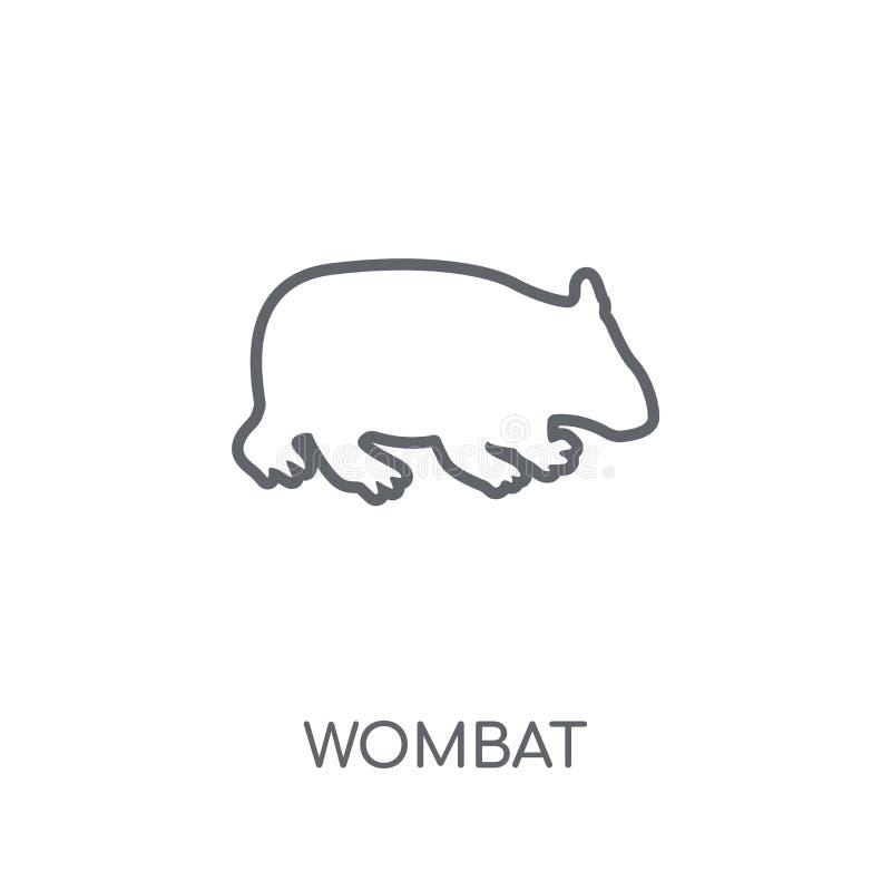Icône linéaire de wombat Concept moderne de logo de wombat d'ensemble sur le blanc illustration libre de droits