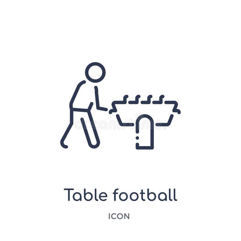 Icône linéaire du football de table de collection d'ensemble de temps libre Ligne mince vecteur du football de table d'isolement  illustration libre de droits