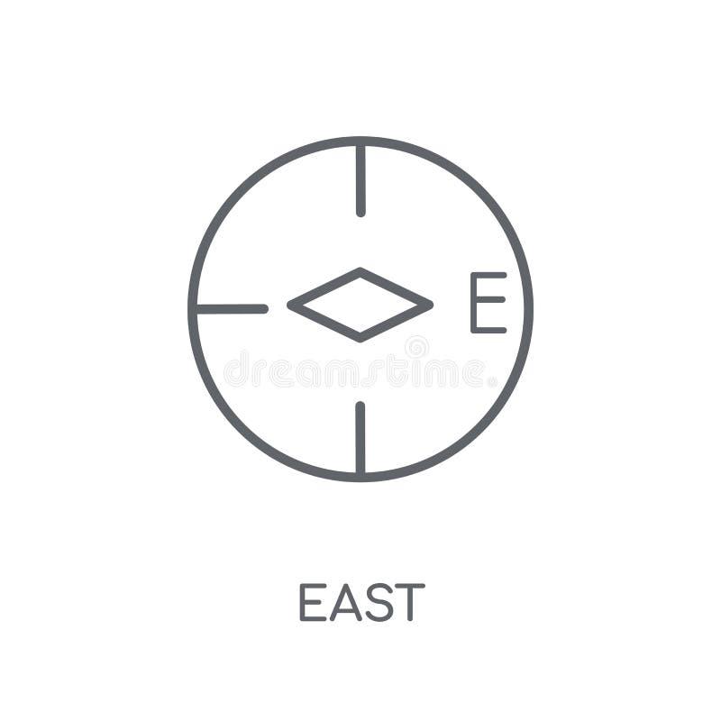 Icône linéaire est Concept est de logo d'ensemble moderne sur le dos blanc illustration libre de droits