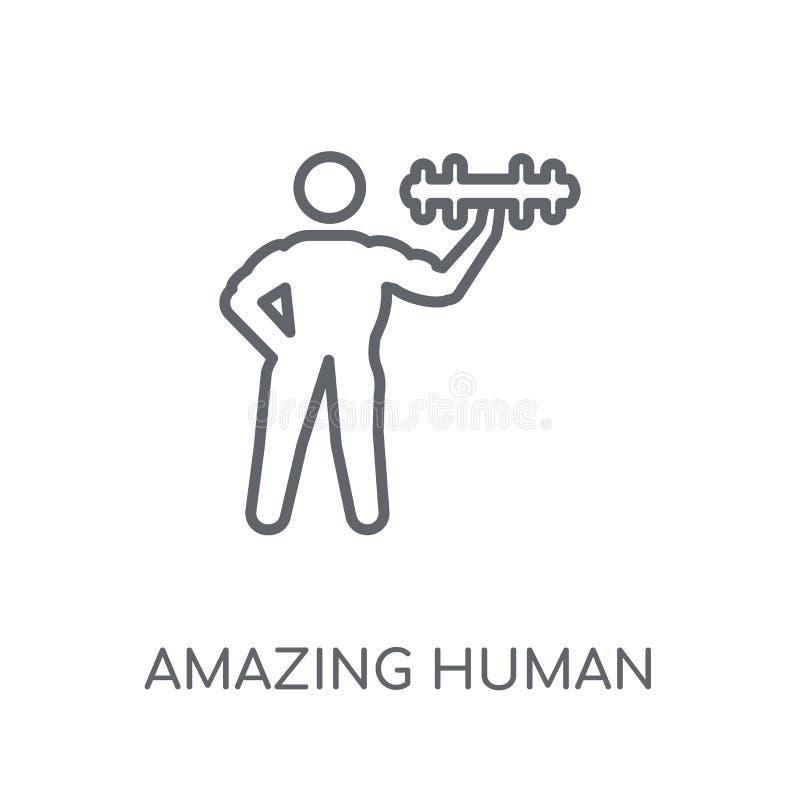 icône linéaire humaine stupéfiante Contour moderne stupéfiant l'escroc humain de logo illustration stock