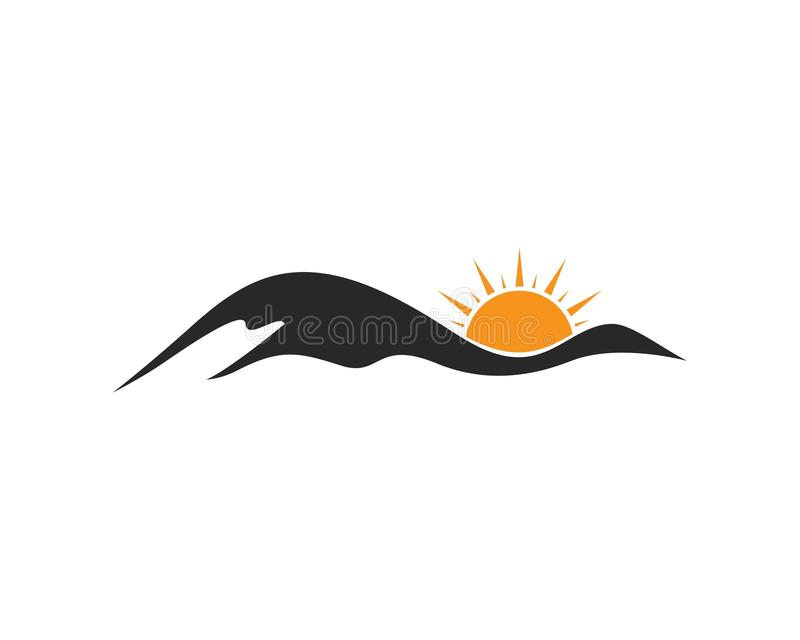 Icône Logo Business Template de montagne illustration stock